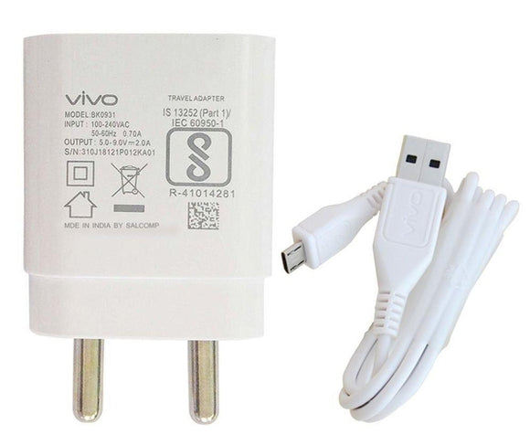 VIVO Y27 2 Amp Fast Mobile Charger with Cable