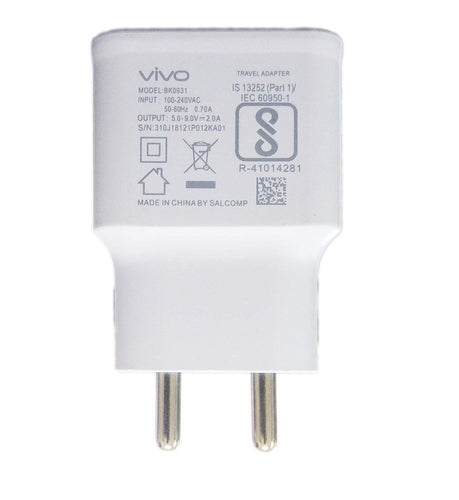 VIVO V3 Max 2 Amp Fast Mobile Charger with Cable
