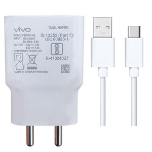 Vivo S1 Pro 2 Amp 9V Dual Engine Fast Mobile Charger with Type C Cable-chargingcable.in