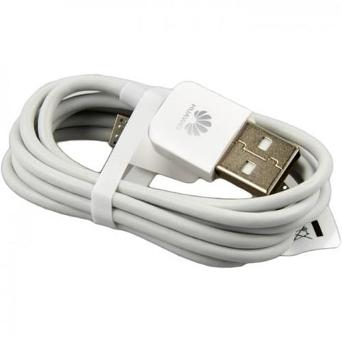 Image of Huawei Honor 3X Original Charging Cable Data Sync Cord-White-chargingcable.in