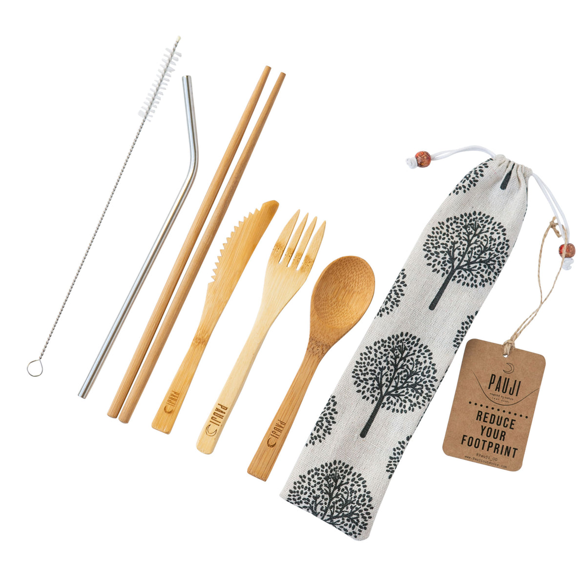 Small Bamboo Cutlery Set