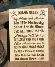 Load image into Gallery viewer, Ohana Rules Wall Art