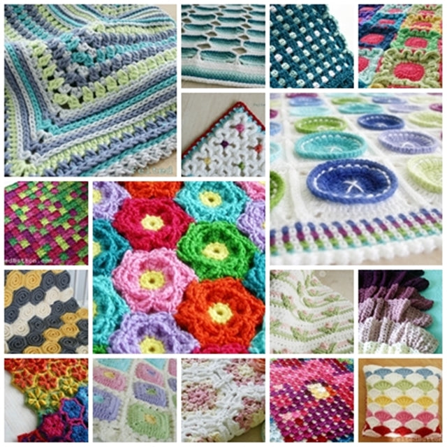 Variety of colorful crochet patterns by by Susan Carlson | Felted Button | Colorful Crochet Patterns