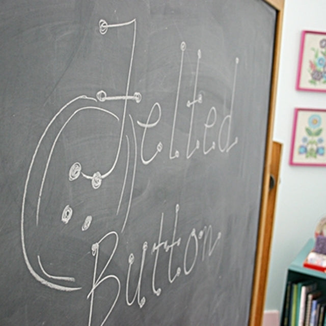 Chalkboard that says, Felted Button, Susan Carlson of Felted Button | Colorful Crochet Patterns