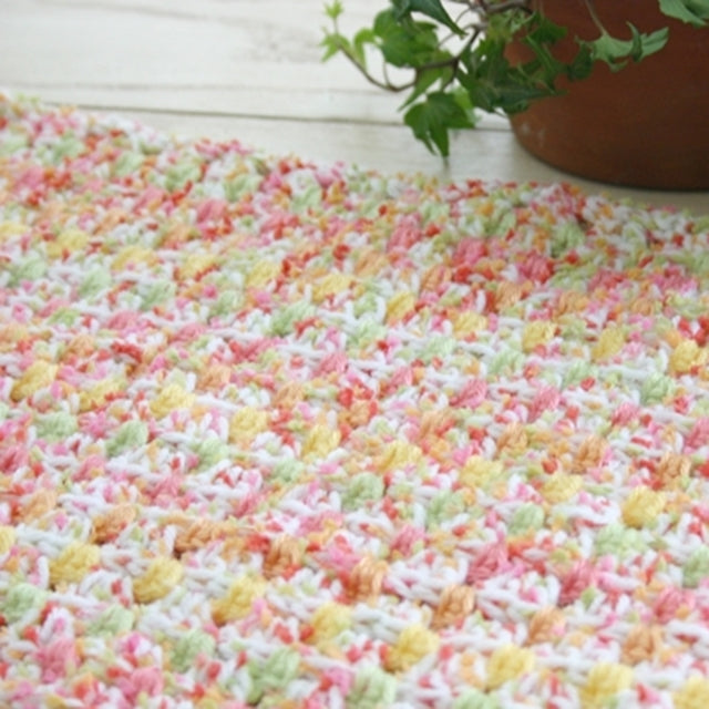Pastel Dit Dah Blanket, crochet pattern by Susan Carlson of Felted Button | Colorful Crochet Patterns