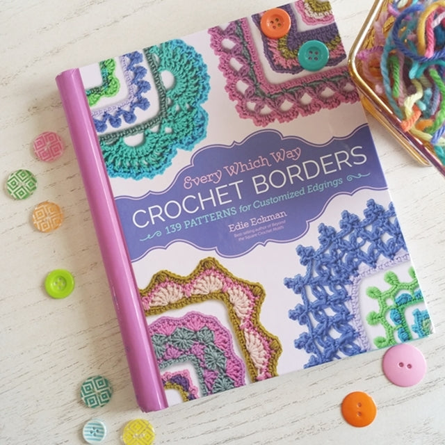 Every Which Way Crochet Borders by Edie Eckman, free crochet border from book on blog by Susan Carlson | Felted Button | Colorful Crochet Patterns
