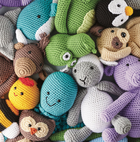 Book Review by Susan Carlson of Felted Button | Colorful Crochet Patterns: Cute Crochet Critters by Sarah Zimmerman