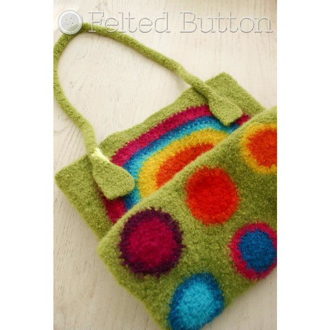 It's Stashing Tote | Crochet Bag Pattern  | Felted Button