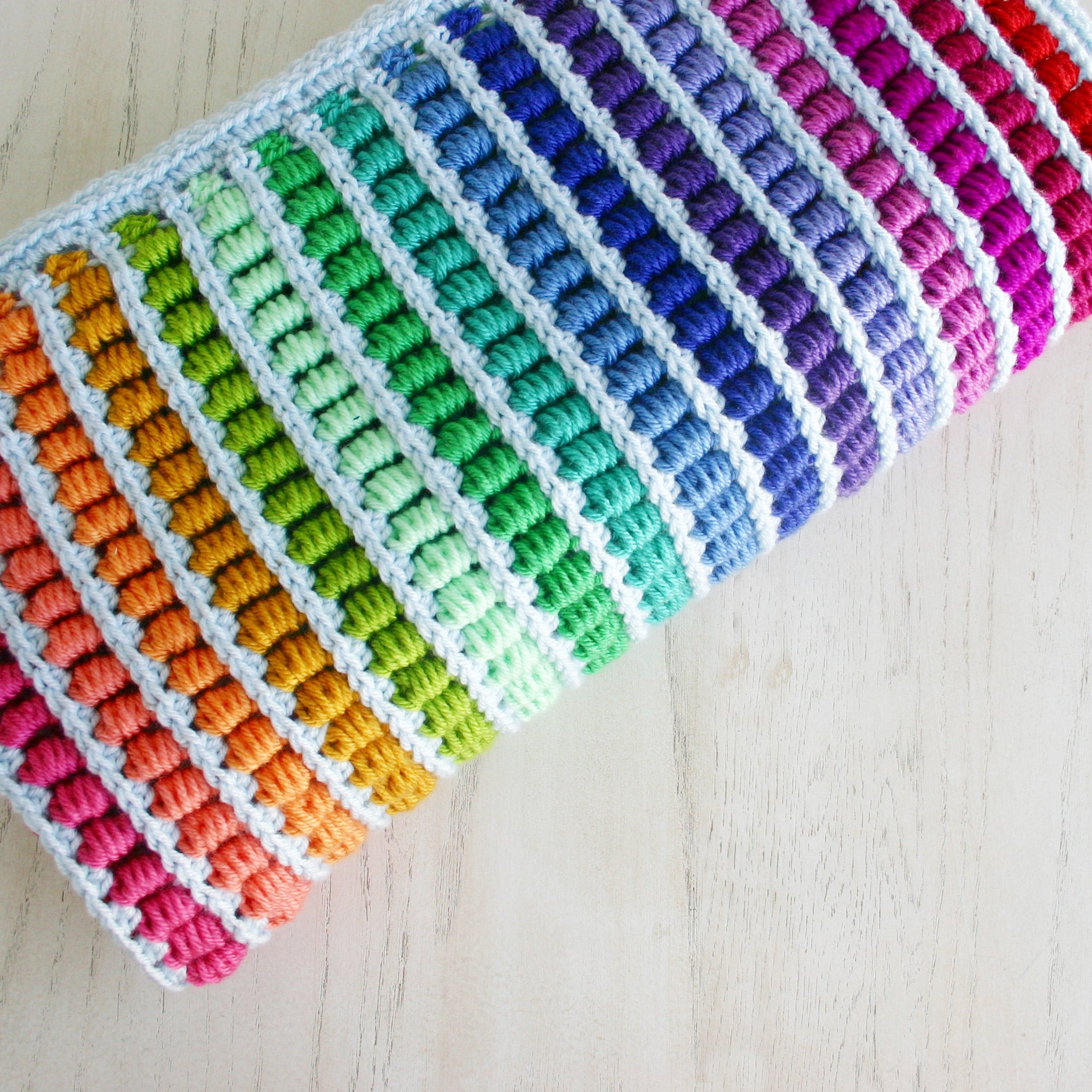Abacus Blanket | Crochet Pattern | Felted Button