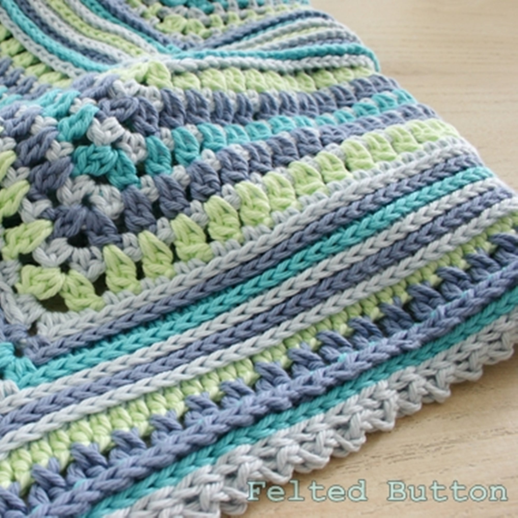 Breath of Heaven Blanket | Crochet Pattern | Felted Button