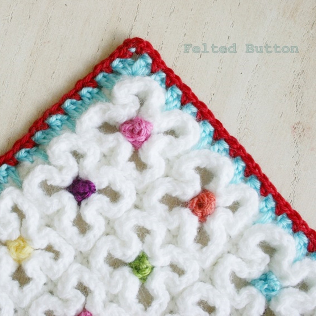 Crazy-Good Mat | Crochet Pattern | Felted Button