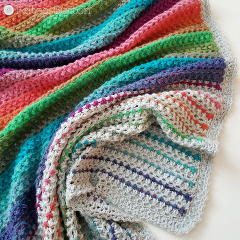 Elan Blanket | Crochet Pattern | Felted Button