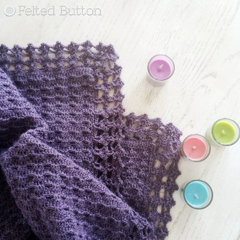 Embraced by Angels Blanket | Crochet Pattern | Felted Button