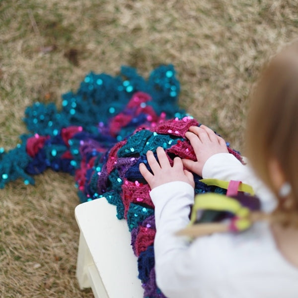 Mermaid Me Blanket | Crochet Pattern | Felted Button