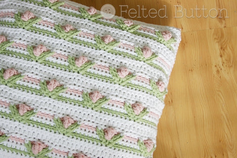 Little Dutch Girl PIllow | Crochet Pattern | Felted Button