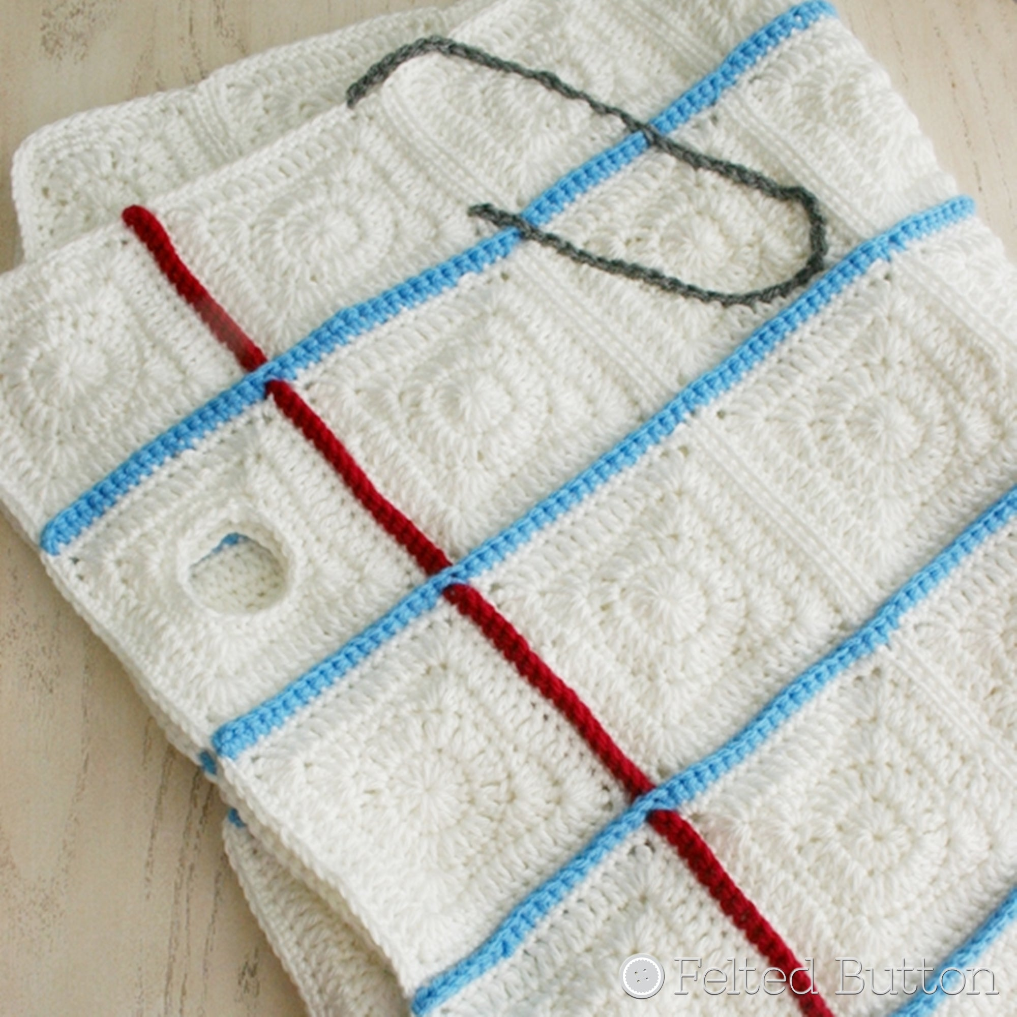 Love Notes Blanket | Crochet Pattern | Felted Button