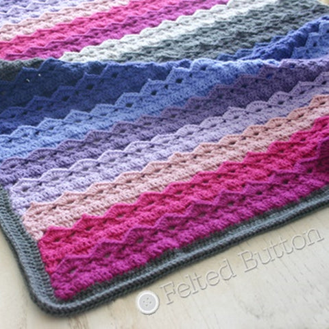 Royal Icing Blanket | Crochet Pattern | Felted Button