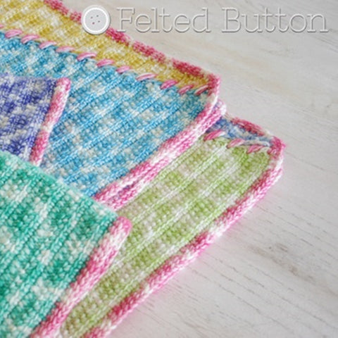 Sally Blanket | Crochet Pattern | Felted Button