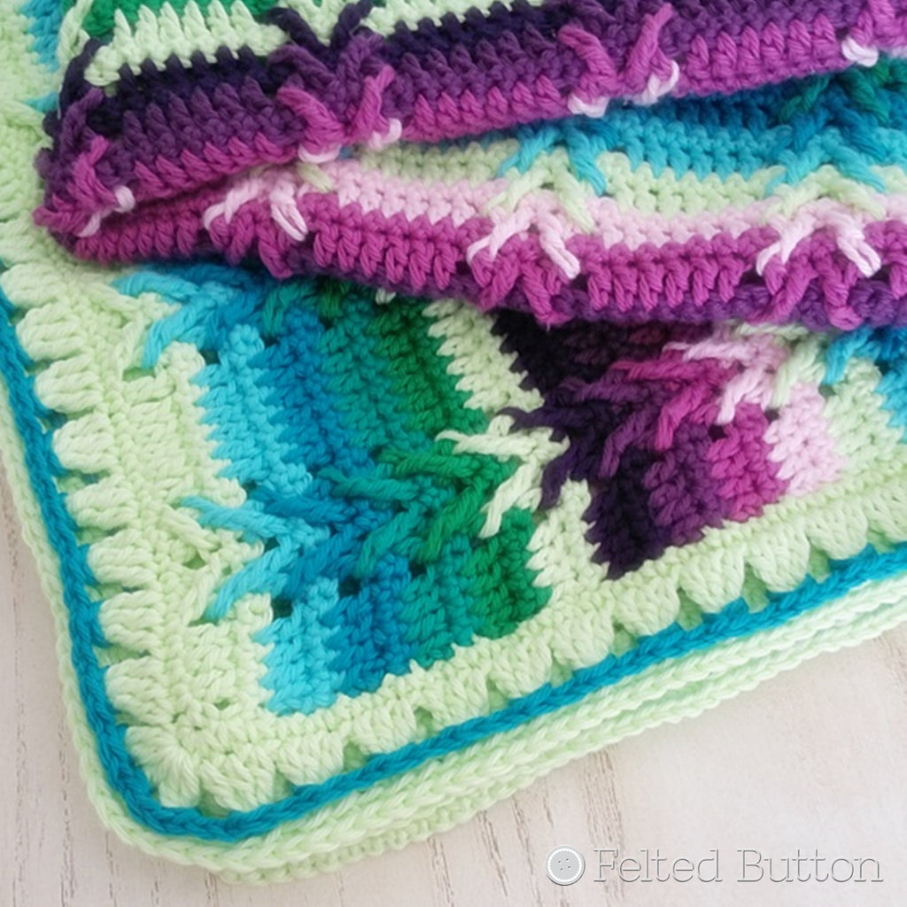 This Way Blanket | Crochet Pattern | Felted Button