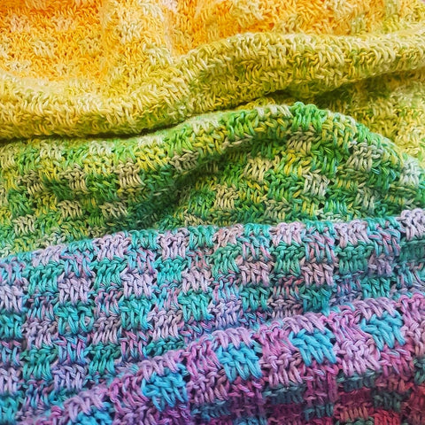 Trio Blanket | Crochet Pattern | Felted Button