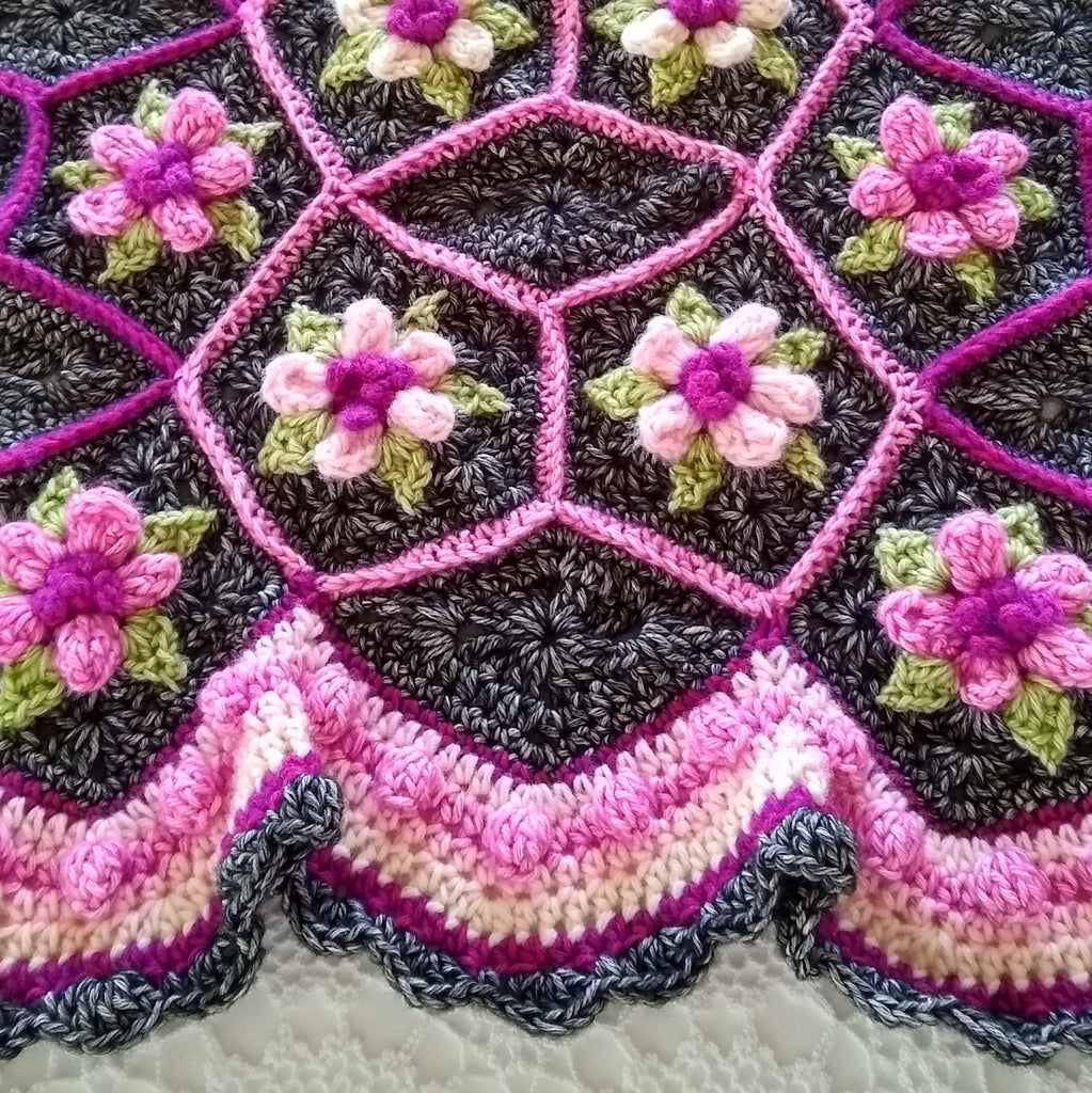 Cherry Blossom Afghan | Crochet Pattern | Apple Blossom Dreams