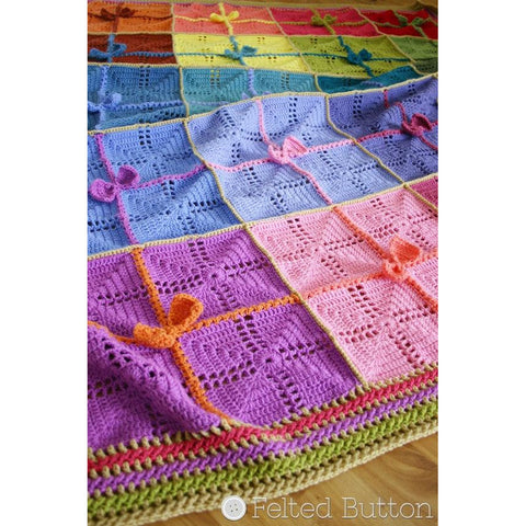 Gifted Blanket | Crochet Pattern | Felted Button