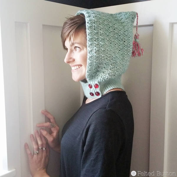Petrichor Hood | Crochet Pattern | Felted Button