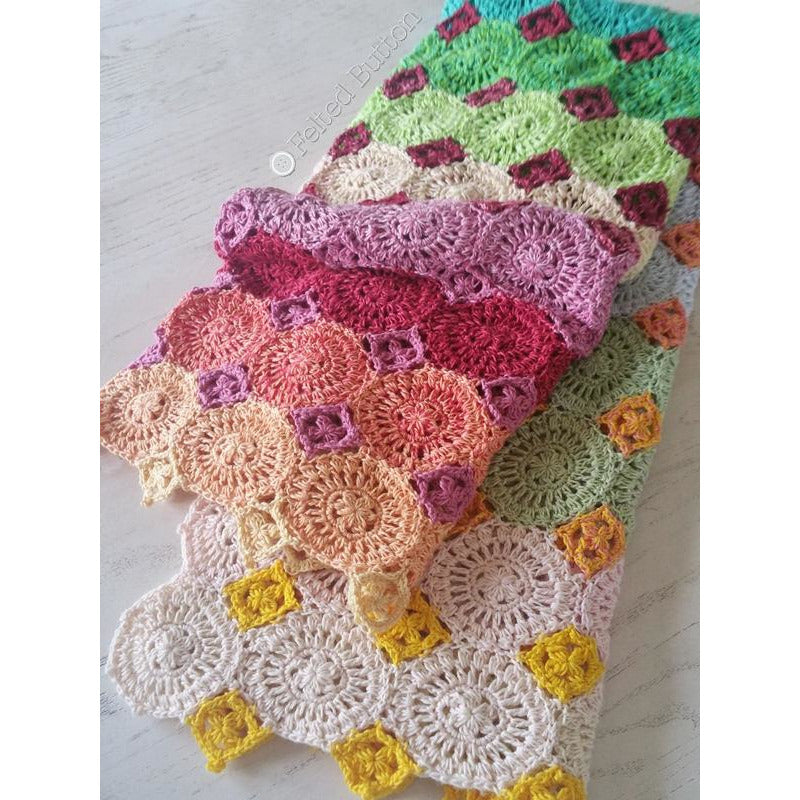 Lightfall Blanket | Crochet Pattern | Felted Button
