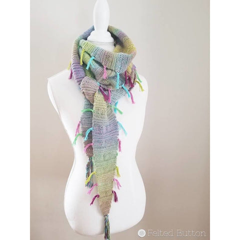 Find Your Tribe Scarf | Crochet Pattern | Felted Button