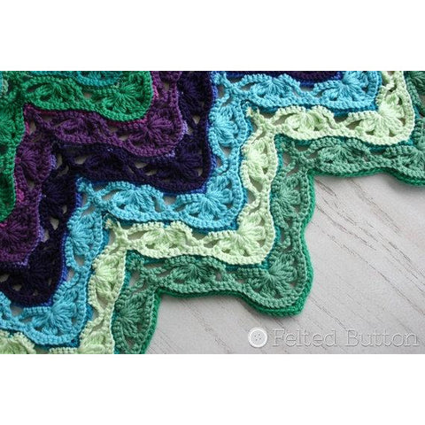 Brighton Blanket | Crochet Pattern | Felted Button