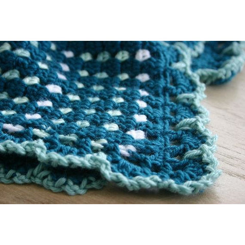 Dit Dah Blanket | Crochet Pattern | Felted Button