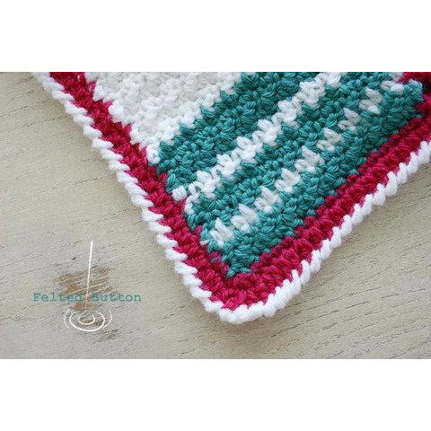 Patch Me a Line Blanket | Crochet Pattern | Felted Button