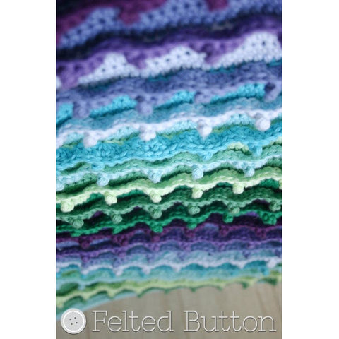 Eventide Blanket | Crochet Pattern | Felted Button