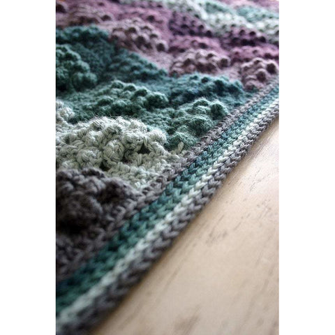 Vintage Vineyard Blanket | Crochet Pattern | Felted Button