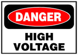 Danger High Voltage Sticker OR Magnet