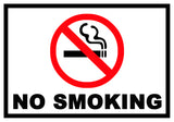 No Smoking Sticker OR Magnet (Small or Large)