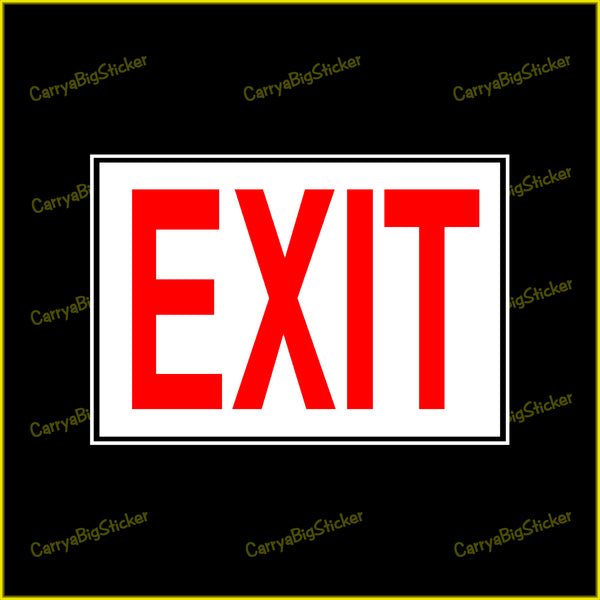 Exit Sticker OR Magnet