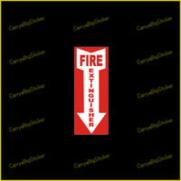 Fire Extinguisher Sticker OR Magnet