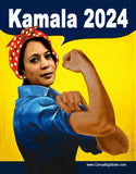Kamala 2024 with Rosie the Riveter Theme Bumper Sticker OR Bumper Magnet