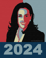 Kamala 2024 Poster-Style Bumper Sticker OR Bumper Magnet