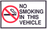 No Smoking in This Vehicle Sticker OR Magnet (Small)