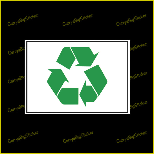 Recycle Symbol Sticker OR Magnet