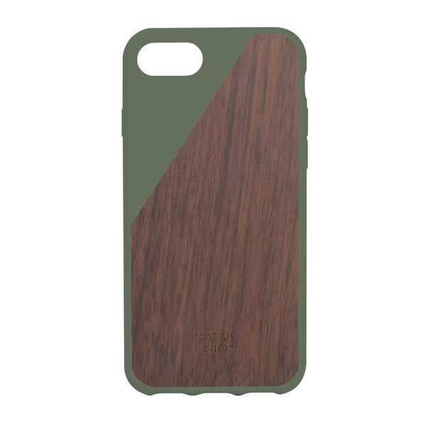 CLIC Wooden iPhone 7 case, olive