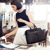 "Audley Laptop Handbag 14"" Leather Black"