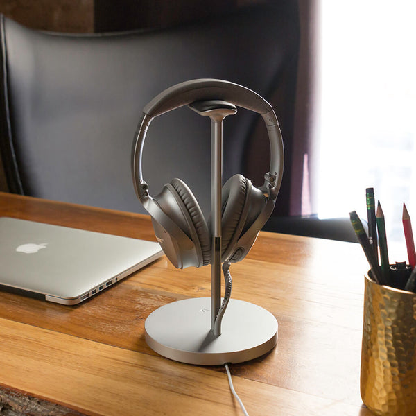 Fermata Headphone Stand, sølv