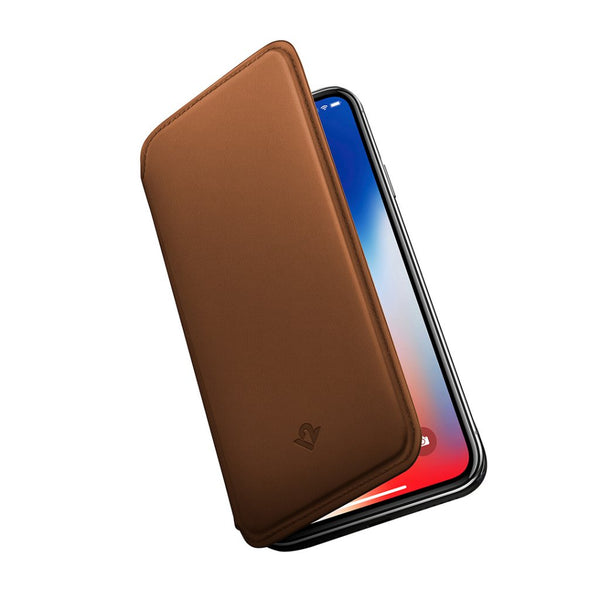 SurfacePad for iPhone X, cognac