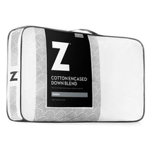 Load image into Gallery viewer, Z Cotton Encased Feather + Down Blend Pillow