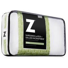 Load image into Gallery viewer, Z Shredded Latex + Gelled Microfiber Pillow