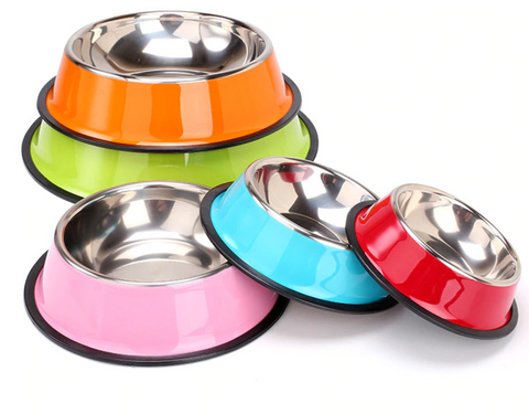 Anti Skid Rubber Base Stainless Steel Pet Bowl