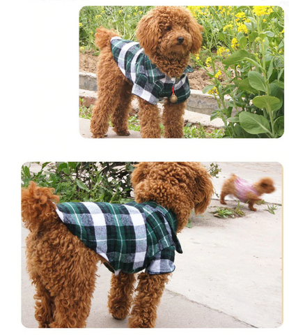 Fashion Plaid Summer Dog Shirt